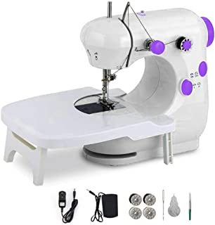 Sewing machine, portable multifunctional electric sewing machine for beginners, Dual Speed Portable Sewing Machine with Ex...
