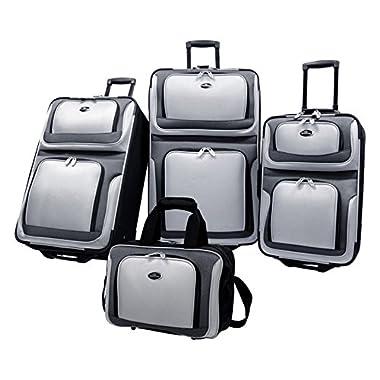 U.S. Traveler New Yorker 4 Piece Luggage Set Expandable