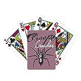 Araña insecto telaraña ilustración patrón póker jugar magia tarjeta divertido juego de mesa