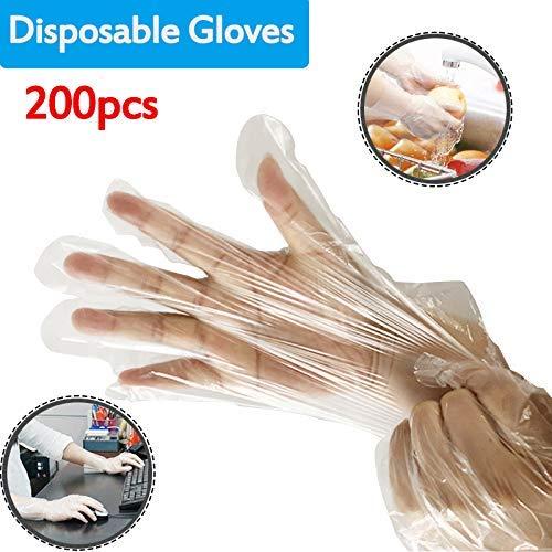Wegwerphandschoenen, boxhandschoenen, doorzichtig, hygiënische PE-handschoenen, wegwerpveiligheidshandschoenen, voor thuis, keuken, restaurant, keuken, industriële reinigingshandschoenen, 120 g