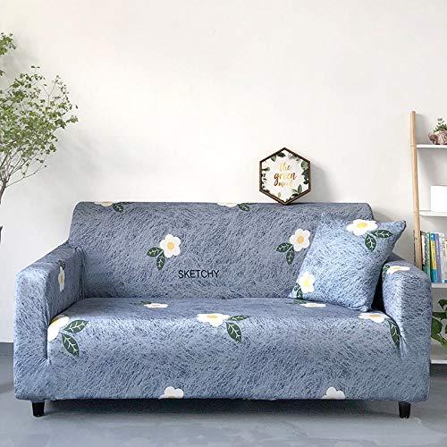 Allenger Cover L-Shape Corner Sofa,Sofabezug mit Stretchdruck, All-Inclusive-Sofabezug, Sofabezug A1_90-140cm
