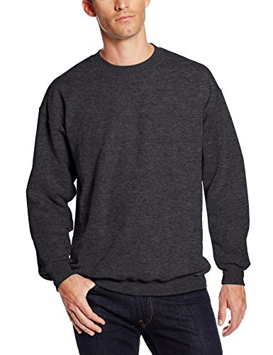 Hanes Men's Ultimate Heavyweight Fleece Sweatshirt, Charcoal Heather, X-Large