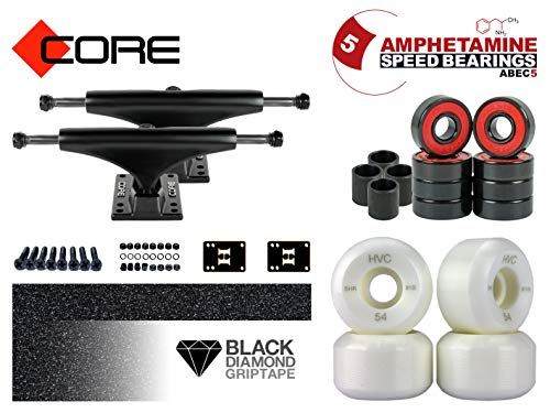 CORE Skateboard Achsen Set-up Black 5.5