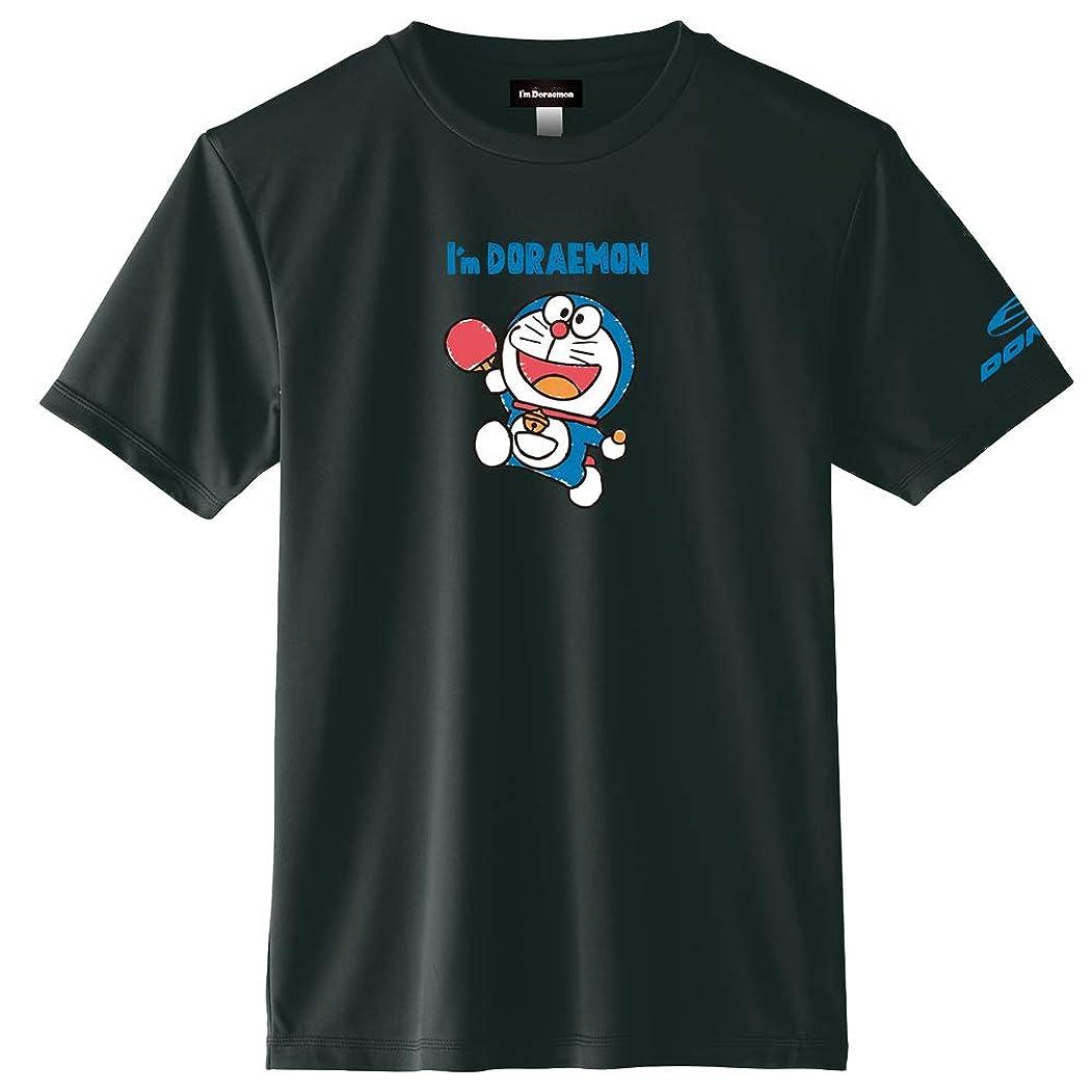 はがき踊り子動DONIC(ドニック) 卓球 ドラえもん コラボ Tシャツ DONIC I'm DORAEMON Bタイプ 3L ブラック YL111