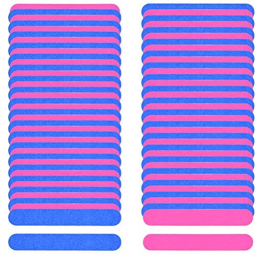 BUYGOO Nagelfeile Profi Nagelfeilen Set - 100PCS Professionelle Einweg Doppelseitige Nagelfeilen für perfekte Nagelpflege Maniküre Pediküre, Blau und Rosa