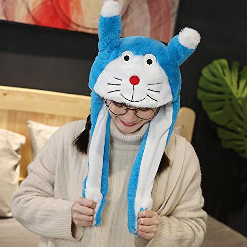 Sombreros De Animales De Invierno Gorras De Tiburón Niñas Cosplay Fiesta Disfraz De Actuación Niños Muñeca Regalo-Doraemon
