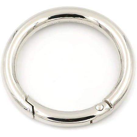 2pièces d'anneaux de porte-clés avec déclenchement à ressort , Silver, 38 mm