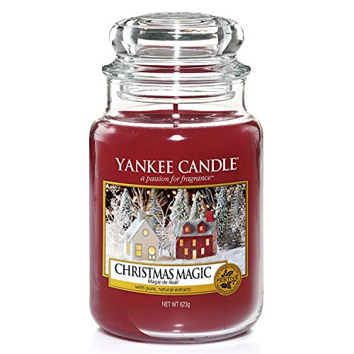 Yankee Candle Scented Candle | Christmas Magic Large Jar Candle | Burn Time: Up to 150 Hours