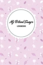 Blood Sugar Logbook - Pink flower design - Up to a year of recording - Small portable size of 6x9 inches
