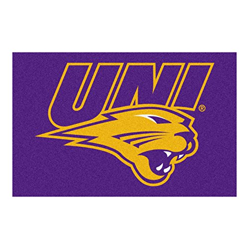 Price comparison product image FANMATS NCAA University of Northern Iowa Panthers Nylon Face Starter Rug