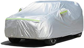 ArgentavisボディーカバーSUV JEEP対応カーカバー防水防雪防塵防輻射紫外線蛍光反射黄砂PM2.5対策ストリップ付き自動車カバー (L :SUV自動車:485×190×185cm)
