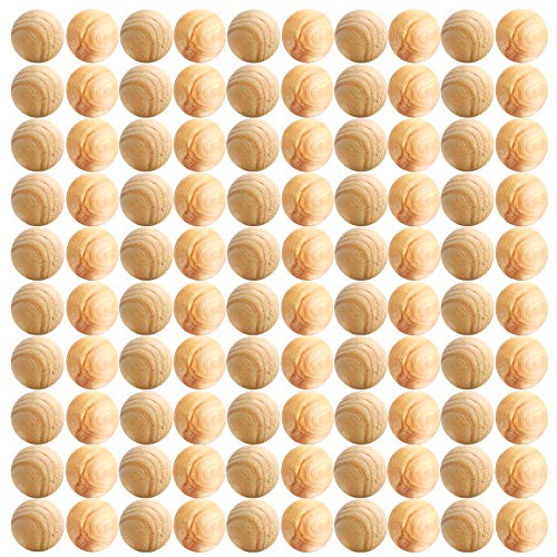 Standie 100 Pcs Boules De Mite De Cèdre Mites De Cèdre Bois Boules De Cèdre De Mites Répulsif Anti-Mites De Bois De Cèdre Prévient Les Mites Noces, Moisissures, Garde Humide Garde-Robe/Casier