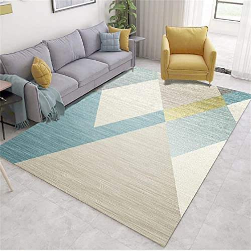 alfombras Pelo Corto Salon Alfombra Azul, Alfombra de Arrastre de balcón de...