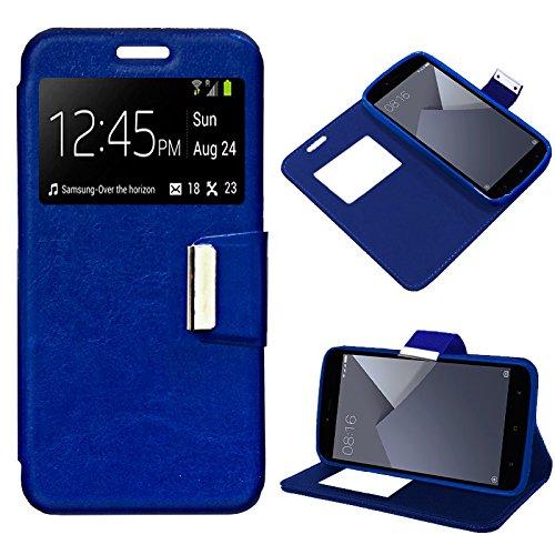 iGlobalmarket Xiaomi Redmi Note 5A / Note 5A Prime, Funda con Tapa, Apertura Lateral Tipo Libro, Cuero PU, Color Azul