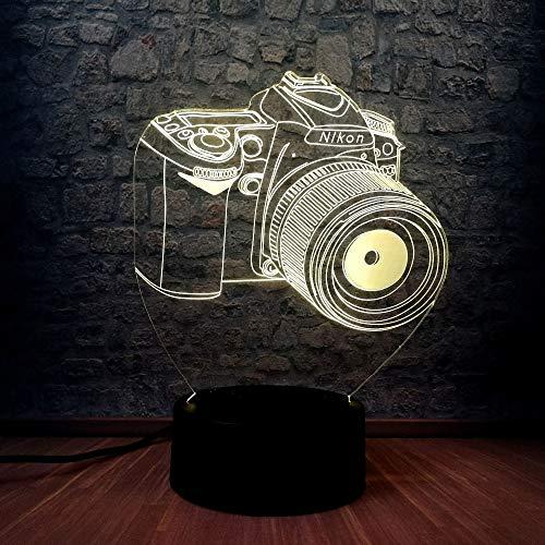 Luz nocturna 3D, lámpara nocturna, luz nocturna, novedad Cambio de ...