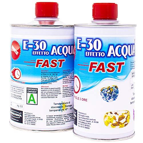 PROCHIMA E-30 FAST, Resina Epossidica Trasparente A+B, Gr 800