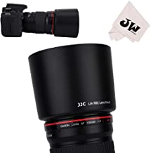 JJC Dedicated Reversible Lens Hood Shade Protector for Canon EF 135mm F2L USM & Canon EF 180mm F3.5L Macro USM Lens Replaces Canon ET-78II ET78II Lens Hood