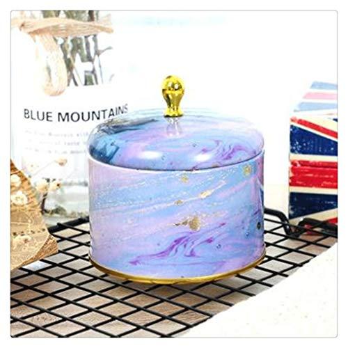 SKREOJF Caja de envasado de jabón a Mano Retro Europeo Caja de Embalaje de Hierro Redondo Caja de Caramelo Caja de Almacenamiento de joyería Regalos (Color : Style D)