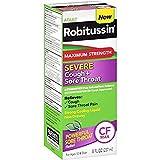 Robitussin Adult Maximum Strength Severe Cough + Sore Throat Liquid, 8 fl oz (Pack of 2)