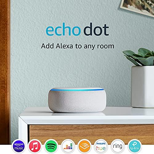 Echo Dot (3rd Gen) - Smart speaker with Alexa - Sandstone Fabric