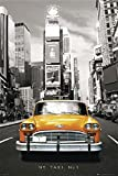 New York Taxi Poster Yellow Cab, Sepia (61cm x 91,5cm) +