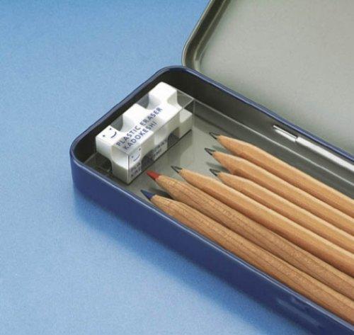 コクヨ消しゴムカドケシプチ鉛筆用ブルー・ホワイトケシ-U750-1