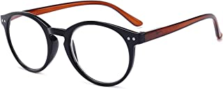 Fulision Vintage round reading glasses fashion Computer Readers Stylish Color Retro Hinge Readers for Men and Women