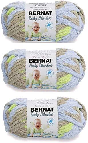 Bernat Baby Blanket Yarn (3-Pack) Little Boy Dove...