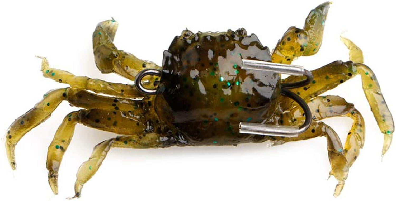 Nafanio 3D Soft Bait 9pcs Crabs Fishing Simulation Worm Lures
