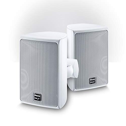 Magnat Symbol X 130, Indoor- und Outdoor-Regallautsprecher, Kompakt-Lautsprecher für professionelle und semiprofessionelle Beschallung, spritzwassergeschützt, 1 Paar, Farbe:Weiß