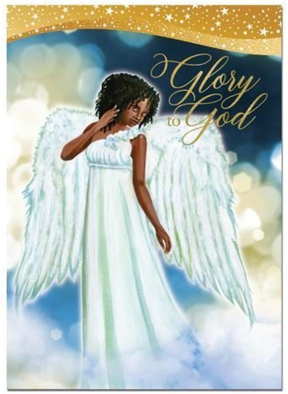 exclusivo African African African american expresiones Gloria a Dios ángel en caja tarjetas de Navidad (15tarjetas, 5 x 7 ) C-938  producto de calidad