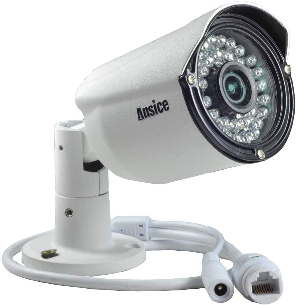4MP POE IP Camera 4.0MP Ansice Network Security Camera IP Surveillance System 2.8mm Fixed Lens IR Infrared Waterproof IP66 Outdoor/Indoor