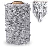 Macrame cuerda 200m x 3mm hilo macrame hilo algodon macrame Cuerda de Algodón...
