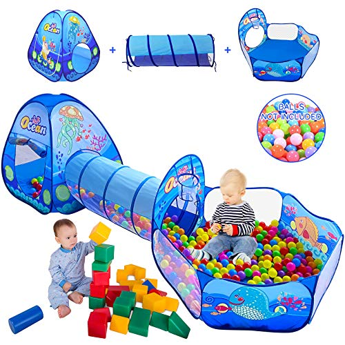 3 in 1 Kid Play Tent with Play Tunnel