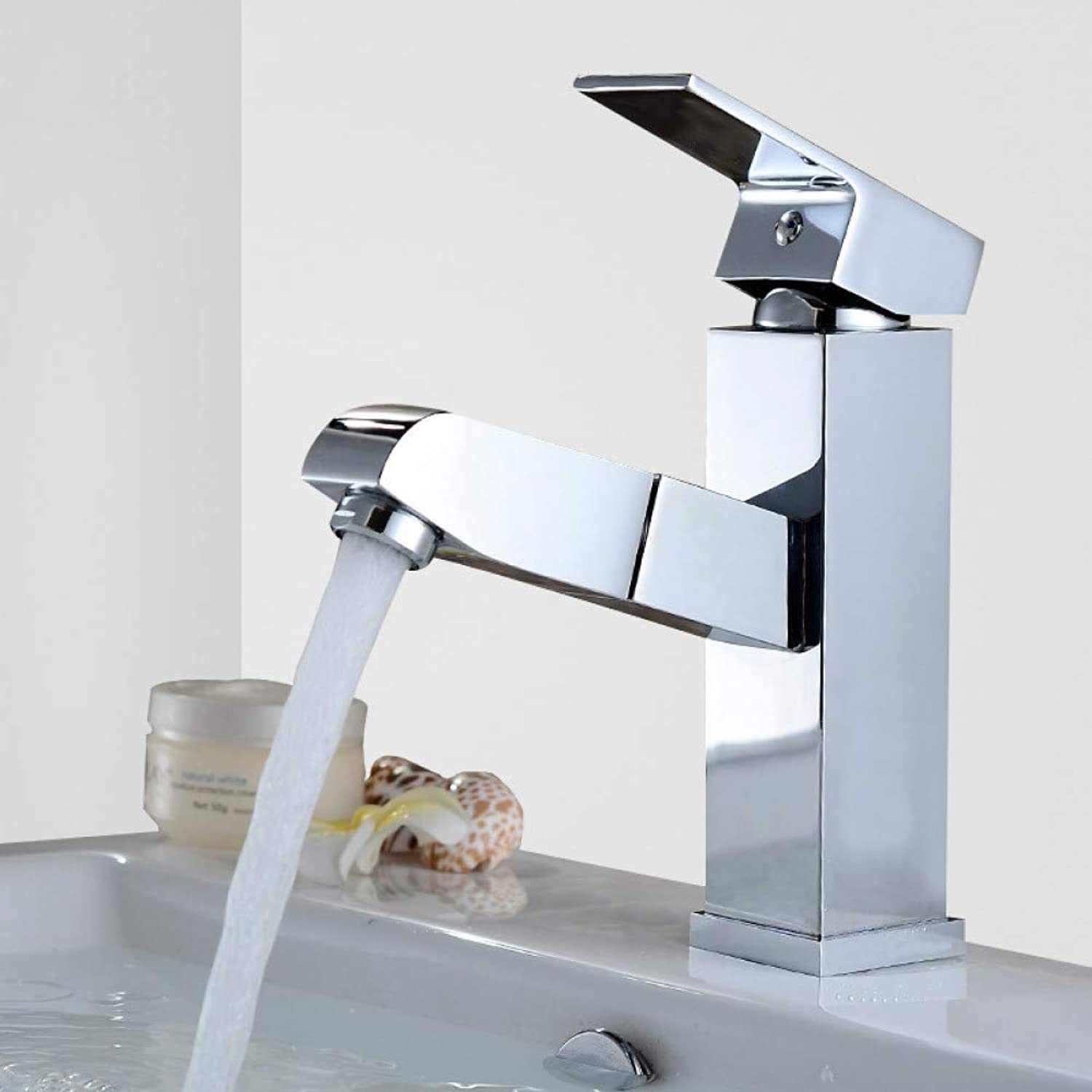 Bathroom Sink Taps YHSGY Pull Out Faucet Design Chrome Basin for Washing Hair and Face Polished Sink Mixer Tap Bathroom Faucet