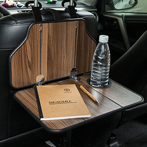 FMS Auto Esstisch Ausklappbarer Tisch fürs Auto mit Getränkehalter Auto Laptop Tisch für Auto Rücksitz Kopfstütze