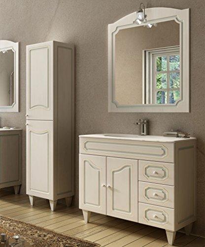 Modern badkamermeubel, met spiegel en ophangsysteem, wastafel en zuil