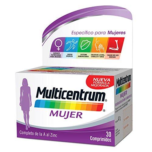 Multicentrum Mujer Complemento Alimenticio con 13 Vitaminas y 11 Minerales, Con Vitamina B1, Vitamina B6, Vitamina B12, Hierro, Ácido Fólico, Calcio, Biotina, Vitamina D, Vitamina C, 30 Comprimidos