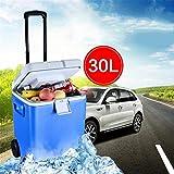 LPC Mini Frigo con Ruote Elettrico E Scaldino, 30 L Frigorifero Portatile con AC + DC Power Plug per...
