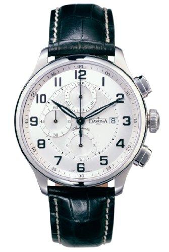 Davosa Pares Classic Herren Automatik Chronograph 16148416mit arabischen Zahlen und Kristall Saphir Fall backal