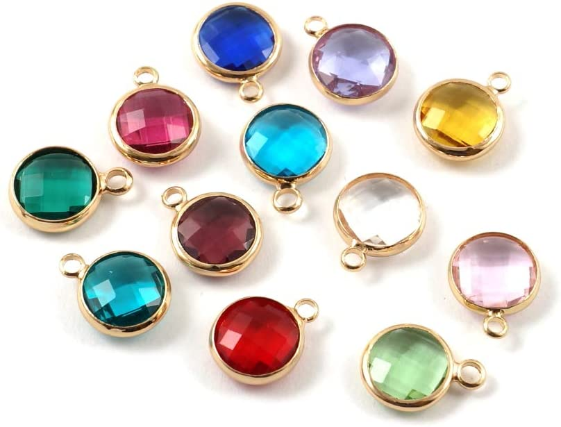 1 Set A Quality Mixed We OFFer at cheap prices Birthstone 8mm Charms Miami Mall Crystal Austrian Bea