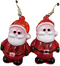 Pack of 1 Light Up Santa Earrings - Christmas Accessories