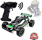 Llpeng Remote Control Racing Cars 2.4Ghz High Speed Rock Fuoristrada 1:20 2WD Elettrico Veloce Buggy Race Hobby RC Auto (Color : Green)