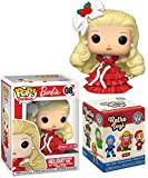 Dress Up Holiday Barbie Exclusive Original Pop! Figure Bundled with Retro Toys Mystery Minis Character 2 Items