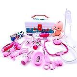 JZK 20 x Maletin Medico Kit Juguete de Doctora para niños para fingir Doctora Juego Herramientas Juguete Set