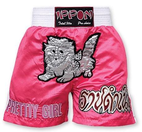 M.A.R International Ltd. Kick Boxen & Thai Boxing Shorts Kickboxen Hose MMA Hose Boxen Kleidung Muay Thai K1Gear Polyester Satin Stoff Pink Medium Rosa - Rose