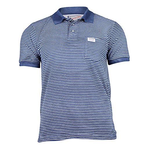 Petrol Industries - T-Shirt Poloshirt Jungen Kurzarm gestreift, blau, Größe 152