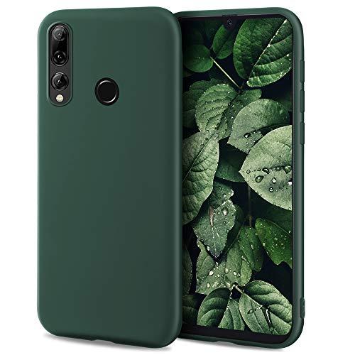 Moozy Minimalist Series, Cover in Silicone per Huawei P Smart Plus 2019 e Honor 20 Lite, Verde Notte - Finitura Opaca, Custodia Sottile Morbida in TPU