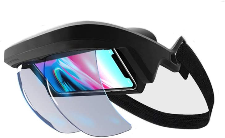 AR Headset, AR Box FOV 90°+ Reality Holographic Projection AR Viewer Smart Helmet with Controller for iPhone & Android 4.5 - 5.5 in Immersive 3D Videos/Games