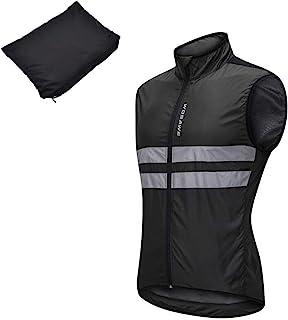 反射ベスト サイクルジャージ ウインドブレーカー 薄手 軽量 安全ベスト サイクルジャケット 袖なし ノースリーブ 撥水 防風 通気 夜間反射 バックポケット付き 男女兼用 自転車 ロードバイク ランニング アウトドアスポーツ 全3色